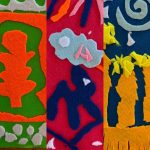"- ""Mini textile samples"" inspired by Matisse (Y6)"