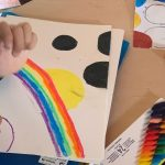 "- ""Infinity rainbows"" with polka dots inspired by Kusama (Y5)"