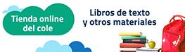 Banner de la tienda online para libros y materiales